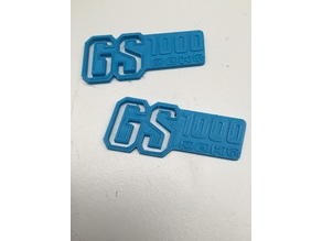 Suzuki GS1000 Logo Keyring - Just add a splitring