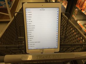 Grocery Cart Tablet Holder Mk4