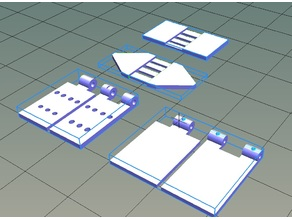 Free hinges for rc planes, 3dlabprint compatible