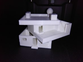 Miniature Two Storey House for Civil Engineering