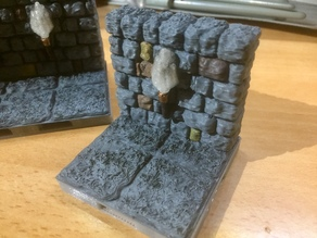 D&D Single Lightable Torch Wall