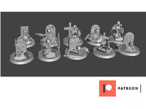 28mm Undead Skeleton Warriors - Climbing out of their graves X10