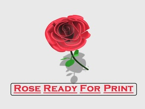 Print That Rose Flower