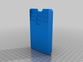 TPU Slim wallet with bigger finger cutouts