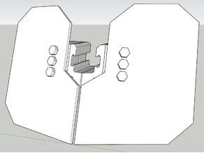 Airsoft rail mounted shield