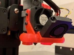 Improved Fan Duct for Nimble print head for Creality type