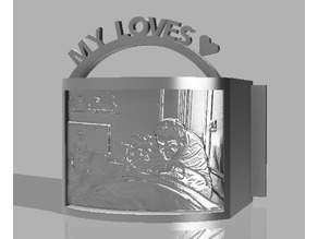Lampe My Love pour photo en lithophanie