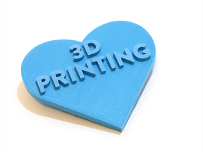 We Love 3D Printing Heart