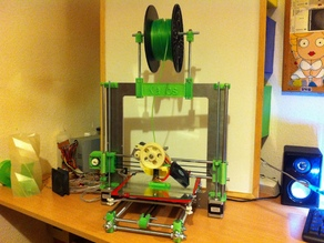 Spool holder for Prusa i3 with aluminium frame