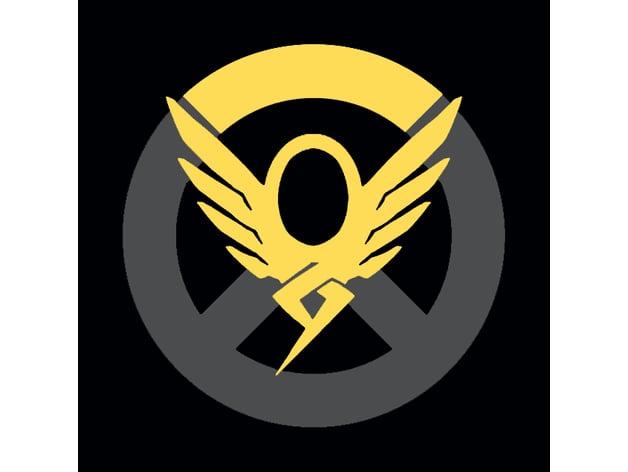 Overwatch Mercy Keychainsign By Saintmythi Thingiverse