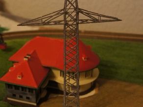 Hochspannungsmast 1:160 / Electric pylon