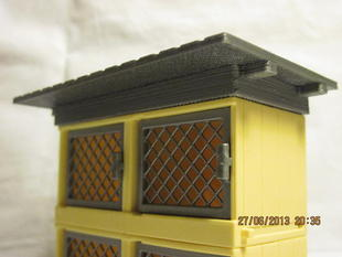 Printed single roof for double Playmobil 4491 rabbit pen