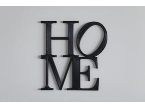 Home letters decor