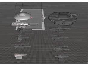 ROBOTECH Inherit the Stars Tirol Empire Independant Colonies Fleets RRT Strategy GAME PIECES set2