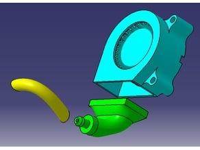 """3/16"""" ID tube to 40mm blower fan adapter"""