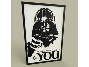 StarWars - Darth Vader -Your Empire Needs YOU - old poster