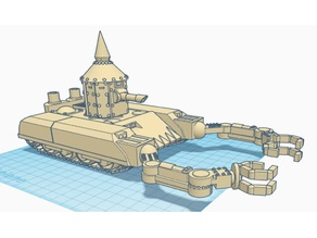 "Ork tank ""Gut Ripper"" 28mm wargaming vehicle"