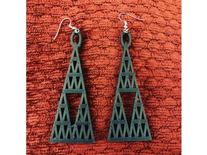 Roof Triangle Hole Earrings