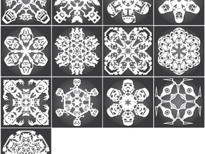 Star Wars Snowflakes by Anthony Herrera - 2013