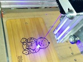 """Laser engraving """"Maker"""" with ShapeOko"""