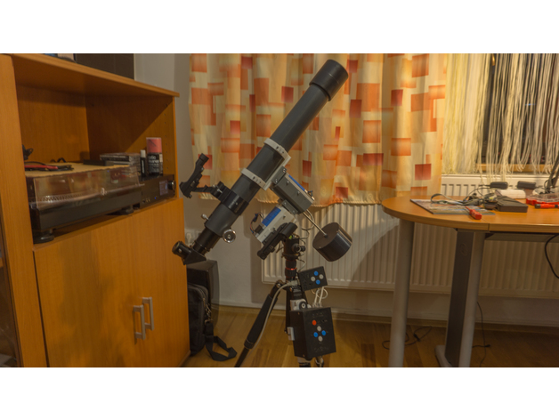 3D printed - EQ telescope mount with OnStep goto controller by