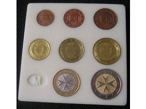 euro coin display board by country