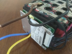 Battery management system (BMS) holder