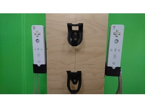 Wii controller holder -sideways