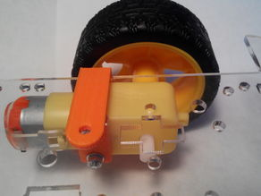 2WD chassis motor mount