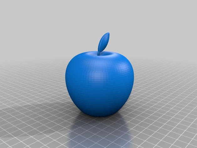 apple logo 3d leave attached to apple by gohanova thingiverse. Black Bedroom Furniture Sets. Home Design Ideas