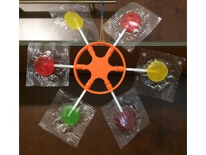 Lollipop Steering Wheel Snowflake Ornament