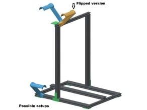 Spoolholder for Cartesian printer with aluminium frame