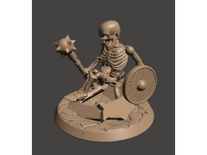 28mm Undead Skeleton Warriors - Rising from the Grave / Earth