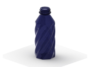 Simple Twisted Bottle with Threads
