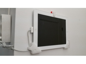 iPad Wall Mount with On/Off Button & Easy Detachment