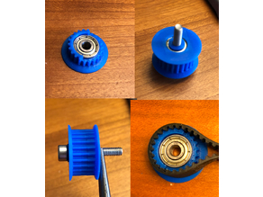 Idler pulley for GT2 belt with ComfortFit flange