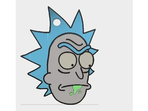 Rick and Morty Rick Keychain