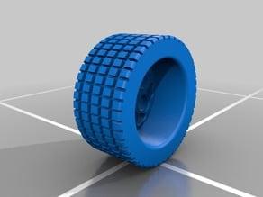 Midget Race Car rear wheel and tire