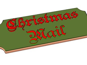 Christmas Mail Plaque