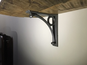 Iron Bracket with French Cleat mount