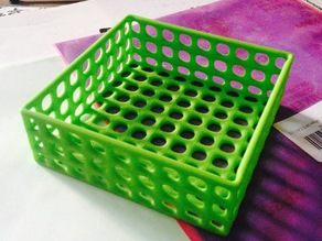 Square wire basket tray