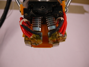 compact dual nozzle lifting hotend