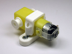 Geared motor mounting for metallic constructor