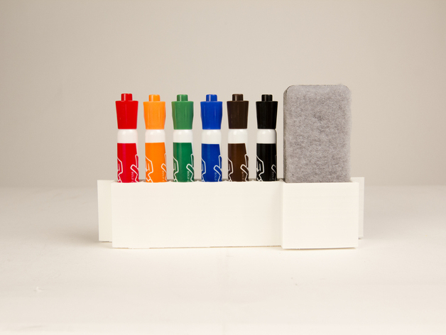 Whiteboard Marker Holder Parametric dry erase m...