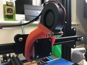 CR-10 High Clearance Fang Mod for 5015 Fans