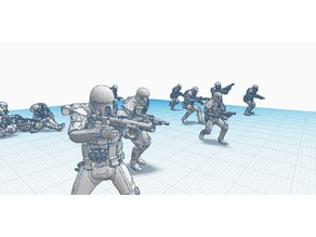 Deathtrooper Battle poses (SW, Rogue One)