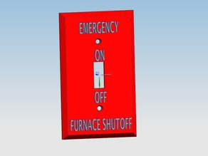 Wall Switch Cover - Furnace Shutoff Switch