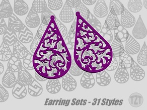 Earring Sets - 31 Styles, Jewelry, Pendant, Wearable