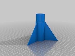 "Model Rocket Nosecone and Tailfin Section for 30mm (or 1.25"") Cardboard Tubes. 29mm motor."