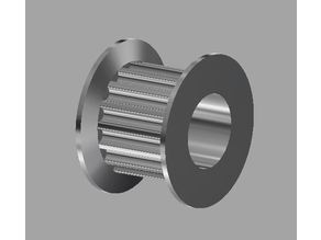 """GT2 16T Idler for 6.35mm shaft (1/4"""") (CNC and 3D printing)"""